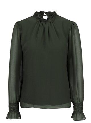 Bluza verde inchis cu maneci clopot Dorothy Perkins