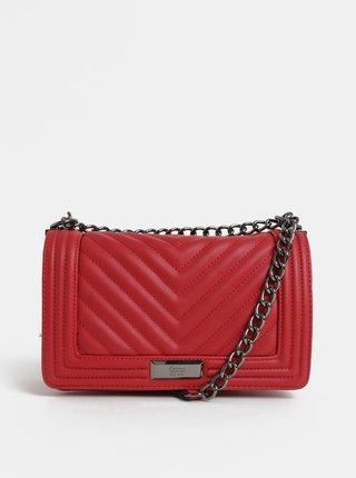 Červená prošívaná kabelka Gionni