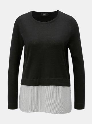 Pulover negru lejer cu bluza cusuta ONLY New