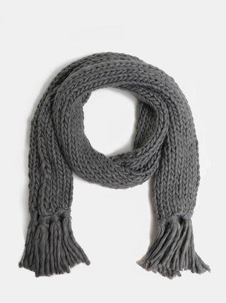 Sivý šál so strapcami VERO MODA Zally