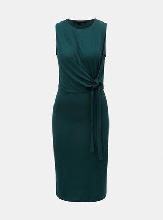 Zelené šaty s uzlem VERO MODA Louisa