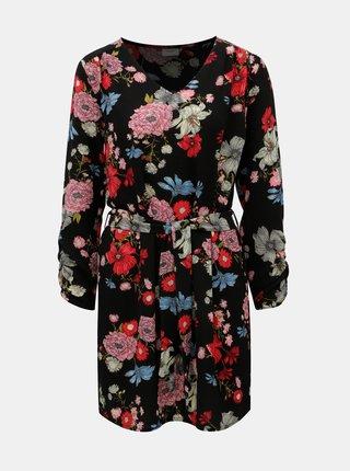 Ružovo-čierne kvetované šaty Jacqueline de Yong New