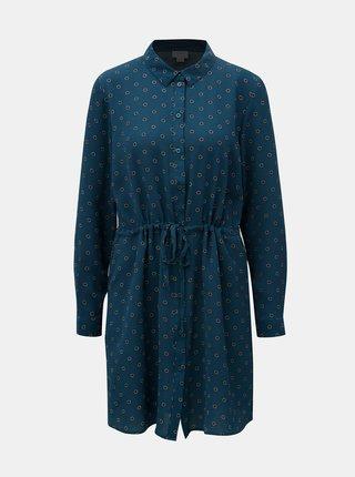 Petrolejové košeľové vzorované šaty Jacqueline de Yong Run