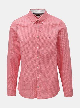 Červená pánska slim fit košeľa Tommy Hilfiger Diamond
