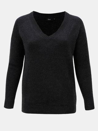 Tmavě šedý svetr s příměsí vlny Zizzi Camilla