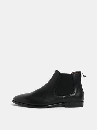 Čierne pánske kožené chelsea topánky ALDO