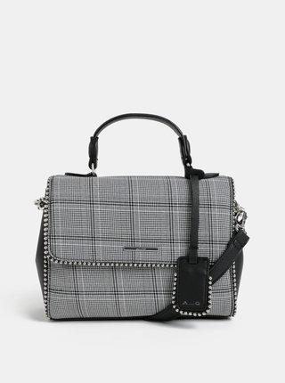 Sivá vzorovaná malá kabelka s kovovými detailmi ALDO