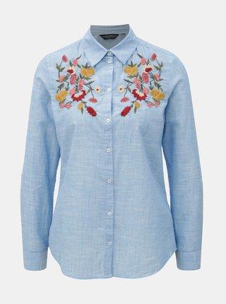 Camasa albastru deschis cu broderie florala Dorothy Perkins