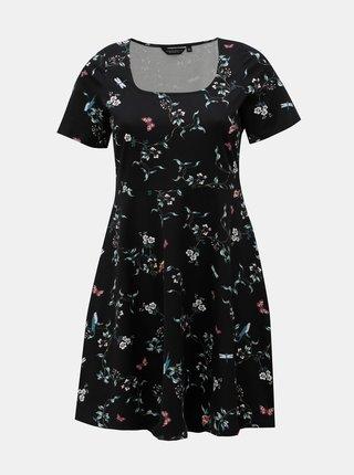 Rochie neagra florala Dorothy Perkins Curve