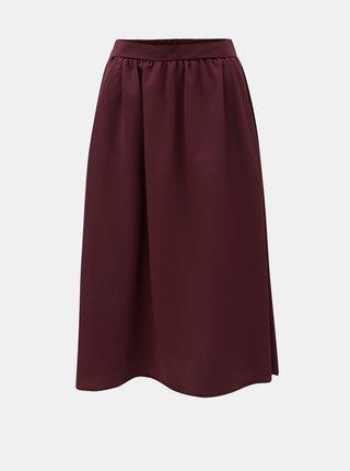 Vínová sukně VERO MODA Sille