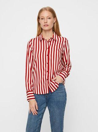Červeno–biela pruhovaná košeľa VERO MODA Nicky