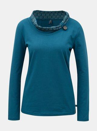 Petrolejové tričko s vysokým límcem Tranquillo Diana