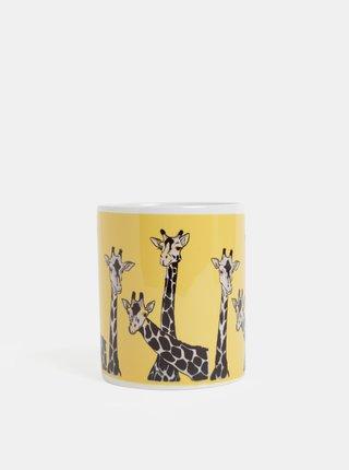Cana galbena cu motiv girafe Butter Kings