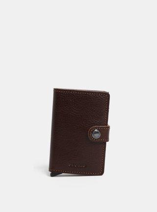 Hnedá kožená peňaženka s hliníkovým puzdrom s RFID Secrid Miniwallet