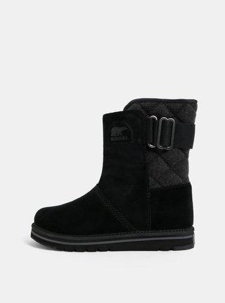 Černé dámské semišové zimní boty SOREL Newbie