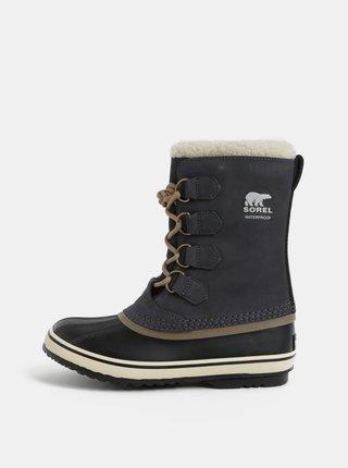 f1b1308b6a Tmavosivé dámske semišové zimné nepremokavé topánky SOREL 1964 Pac 2