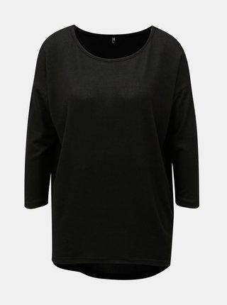 Čierny voľný sveter s 3/4 rukávom ONLY