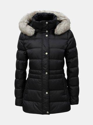 Čierna dámska páperová prešívaná zimná bunda Tommy Hilfiger