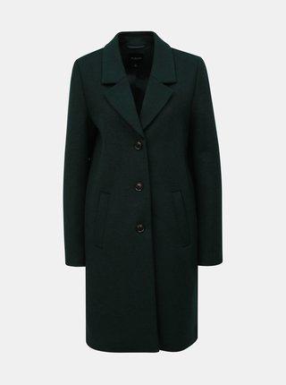 Tmavě zelený vlněný kabát Selected Femme Sasja