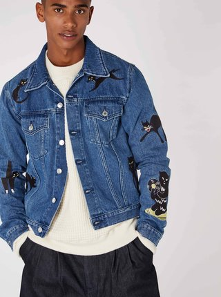 Jacheta unisex albastra din denim Kings of Indigo