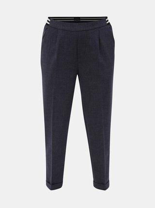 Tmavě modré dámské zkrácené kalhoty s elastickým pasem Broadway Gabby