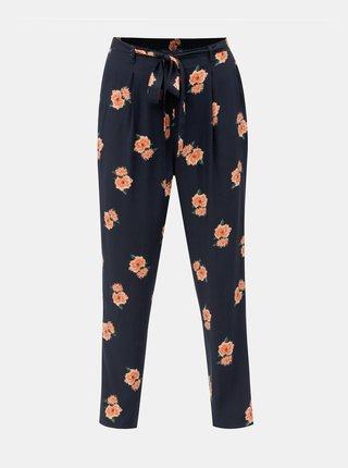 Tmavomodré kvetované nohavice Dorothy Perkins Tall