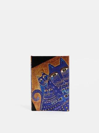 Oranžovo-modrý týdenní mini diář na rok 2019 Paperblanks Mediterranean Cats