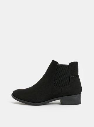 Čierne chelsea topánky v semišovej úprave Dorothy Perkins Monty