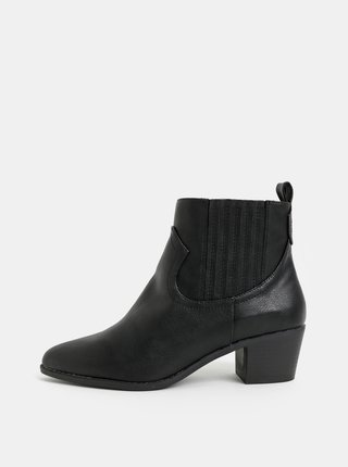 Černé chelsea boty na podpatku Dorothy Perkins Macqueen