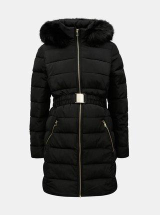 Čierny prešívaný tehotenský kabát Dorothy Perkins Maternity