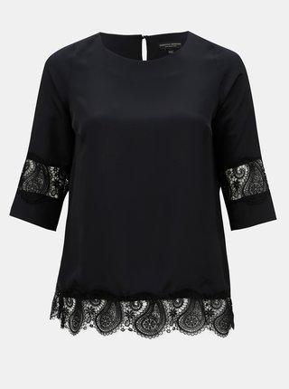 Bluza neagra cu dantela si maneci 3/4 Dorothy Perkins Curve