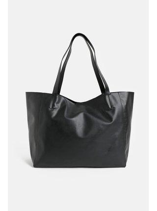 Čierny kožený shopper Vagabond Gothenburg