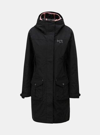 Černý kabát s lehkým odepínatelným kabátem 2v1 Kari Traa
