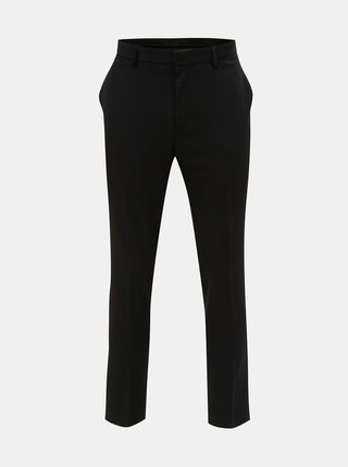 Pantaloni plisati negri muscle fit Burton Menswear London