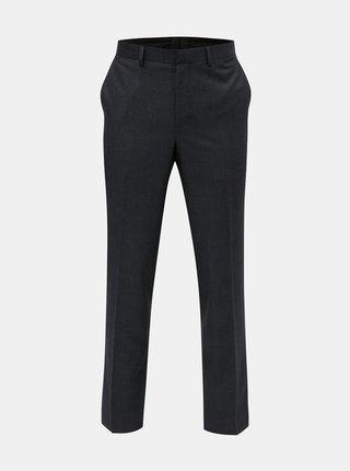 Pantaloni formali plisati albastru inchis Burton Menswear London