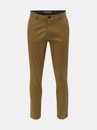 Pantaloni bej chino straight Burton Menswear London