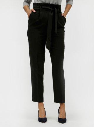 Čierne nohavice so zaväzovaním VILA Charlotte