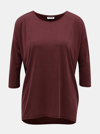 Tricou bordo lejer basic cu spate mai lung Noisy May Allen