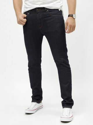 Tmavomodré slim fit rifle Selected Homme