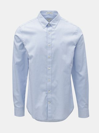 Světle modrá pánská formální slim fit košile GANT