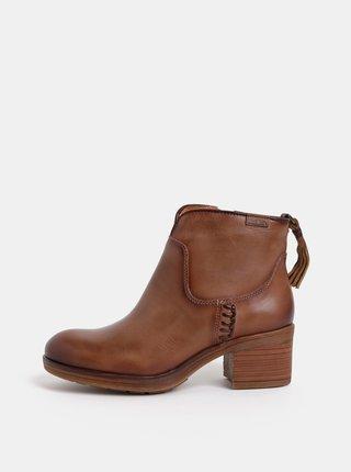 Hnedé kožené členkové topánky Pikolinos Siena