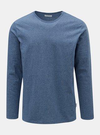 Modré melírované tričko s dlhým rukávom Lindbergh