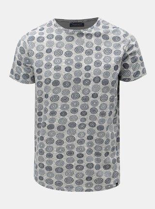 Modro–sivé vzorované tričko Dstrezzed