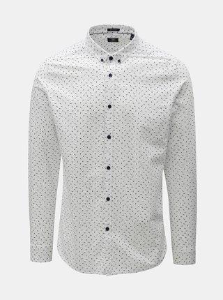 Biela vzorovaná košeľa Dstrezzed
