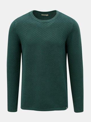 Zelený vzorovaný svetr Dstrezzed