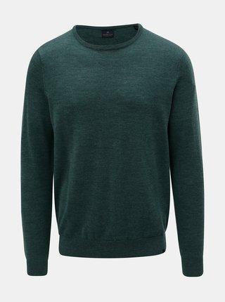 Zelený lehký svetr z Merino vlny Dstrezzed