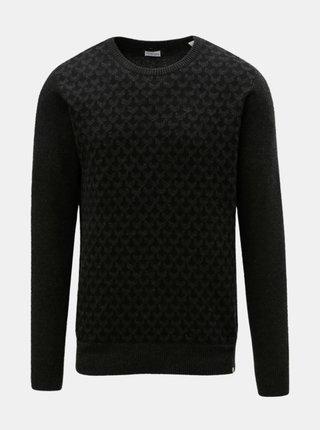 Čierny vzorovaný sveter Dstrezzed