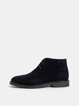 Tmavě modré pánské semišové kotníkové boty GANT Spencer