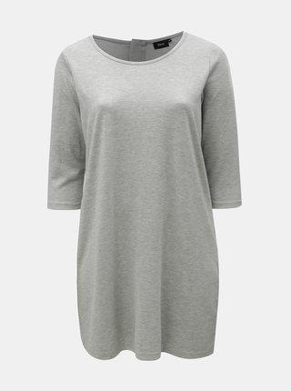 Svetlosivé melírované mikinové šaty Zizzi Heaven