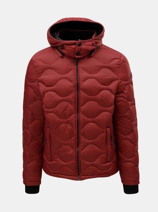 Jacheta rosie lejera matlasata de puf Dstrezzed